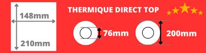 Rouleau de grande étiquettes thermique direct de qualité 148x210mm avec mandrin de 76mm, diamètre du rouleau 200mm